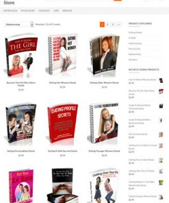 dating ecommerce plr store website