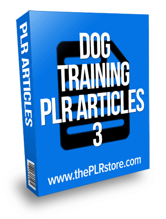 dog training plr articles