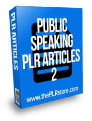 public speaking plr articles 2