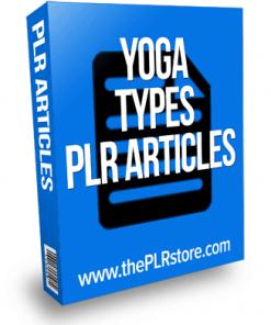 yoga types plr articles