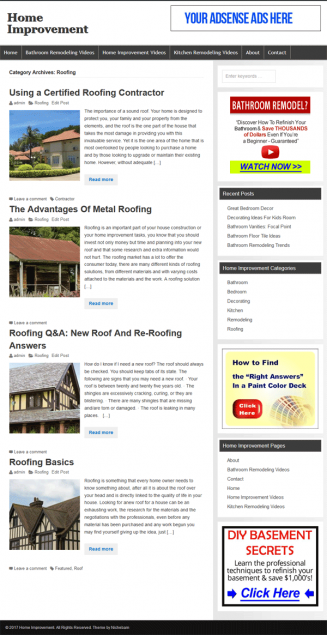 home improvement plr website