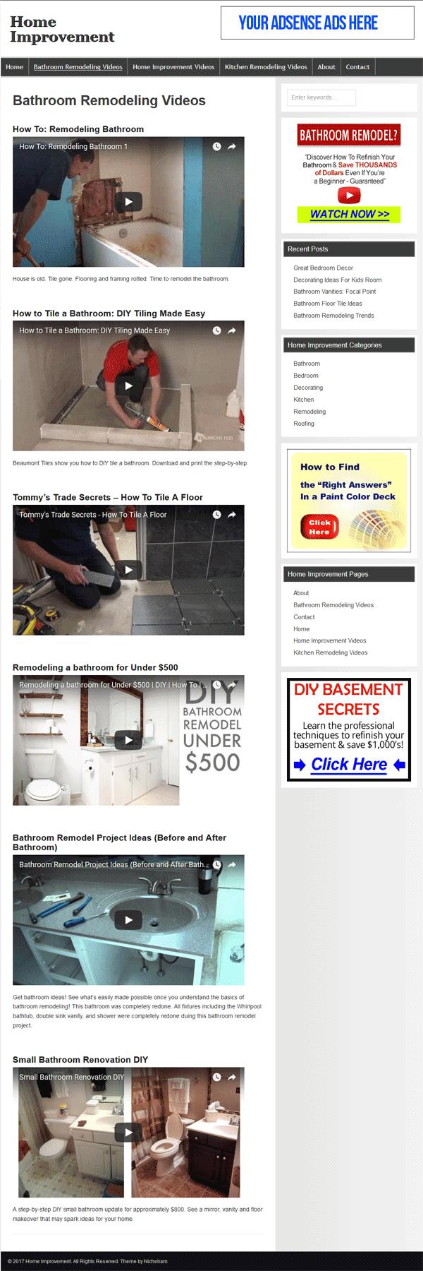Home Improvement PLR Website |