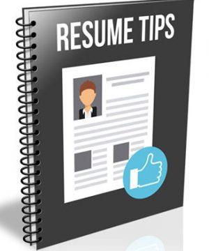 resume tips plr report