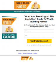 private label rights Private Label Rights and PLR Products wealth building habits lead generation squeeze page 190x230