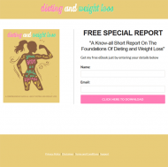 diet and weight loss plr report