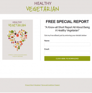 healthy vegetarian plr ebook