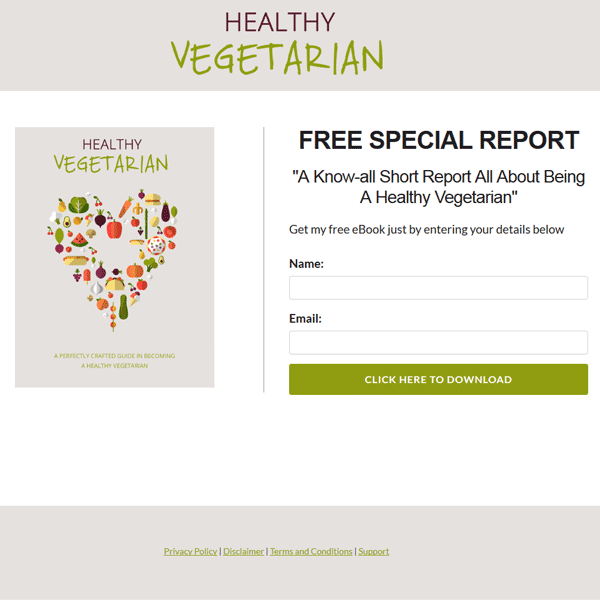 healthy vegetarian plr ebook