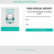 private label rights Private Label Rights and PLR Products love of dogs plr report squeeze page 190x188