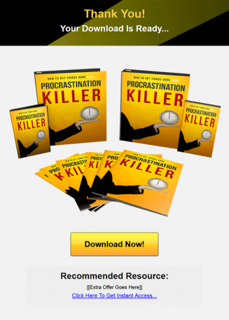 procrastination killer ebook and videos