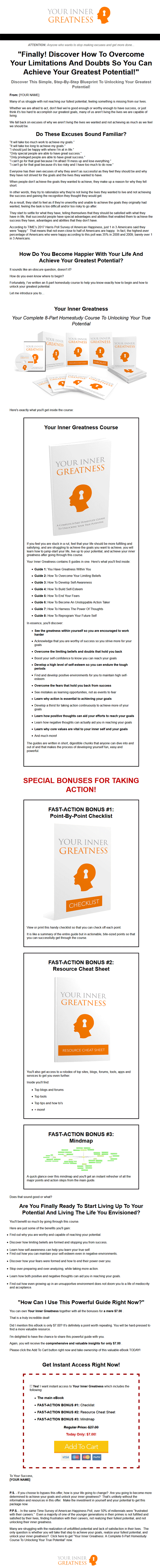 your inner greatness ebook and videos