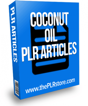 coconut oil plr articles
