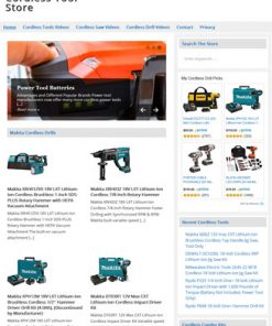 cordless tools plr website amazon store