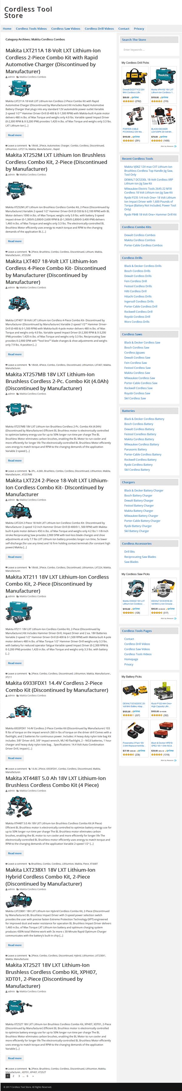 cordless tools plr website amazon store