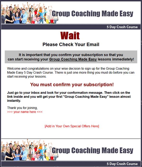 group coaching plr autoresponder messages