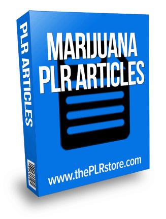marijuana plr articles