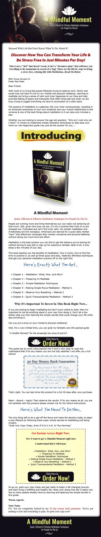 mindful moment meditation ebook