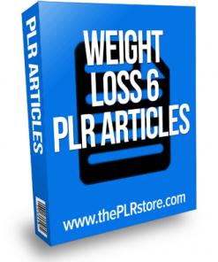 Weight Loss PLR Articles 6