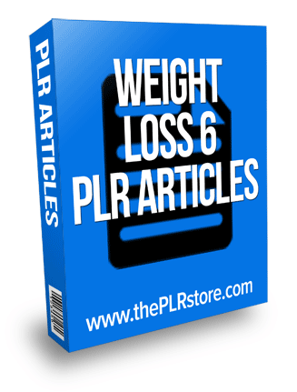 Weight Loss PLR Articles 6