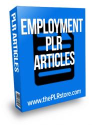 Employment PLR Articles