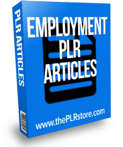Employment PLR Articles
