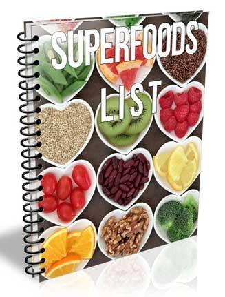 superfoods list plr report
