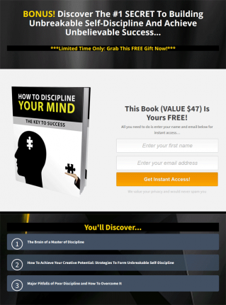Power of Discipline Ebook and Videos MRR