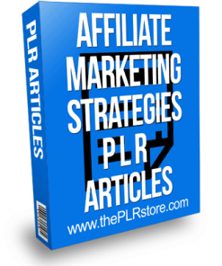 affiliate marketing strategies plr articles
