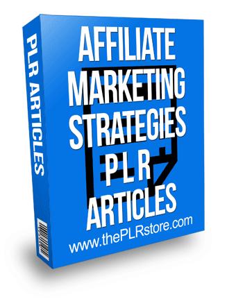 affiliate marketing strategies plr articles