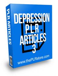 Depression PLR Articles 3