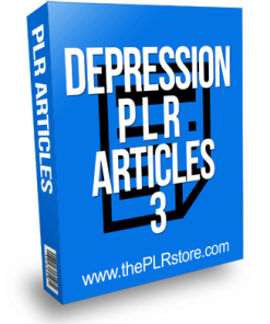 Depression PLR Articles 3
