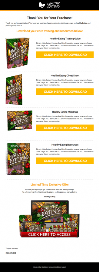 Healthy Eating Guide Ebook and Videos MRR
