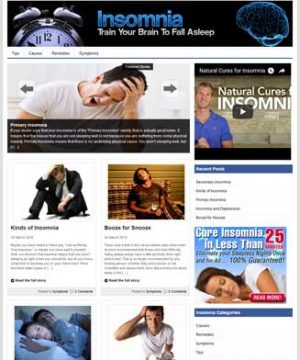 Insomnia PLR Website