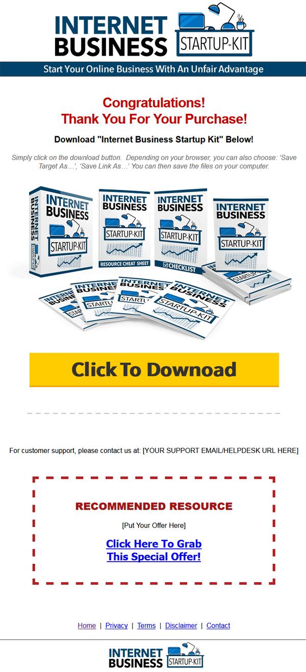 Internet Business Start Up Kit Lead Generation MRR