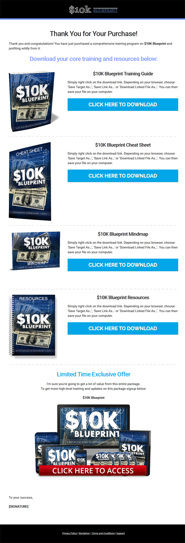 10k blueprint ebook and videos with master resale rights 10k malvernweather Images