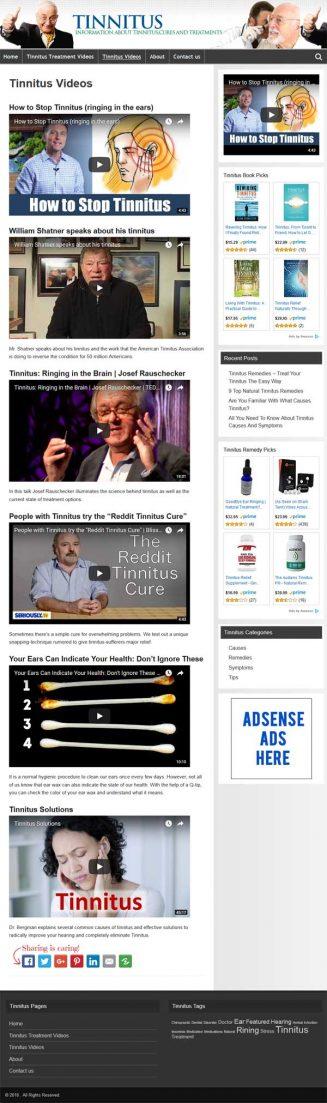 Tinnitus PLR Website