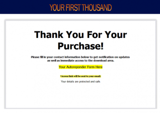 Your First Thousand Ebook and Videos MRR