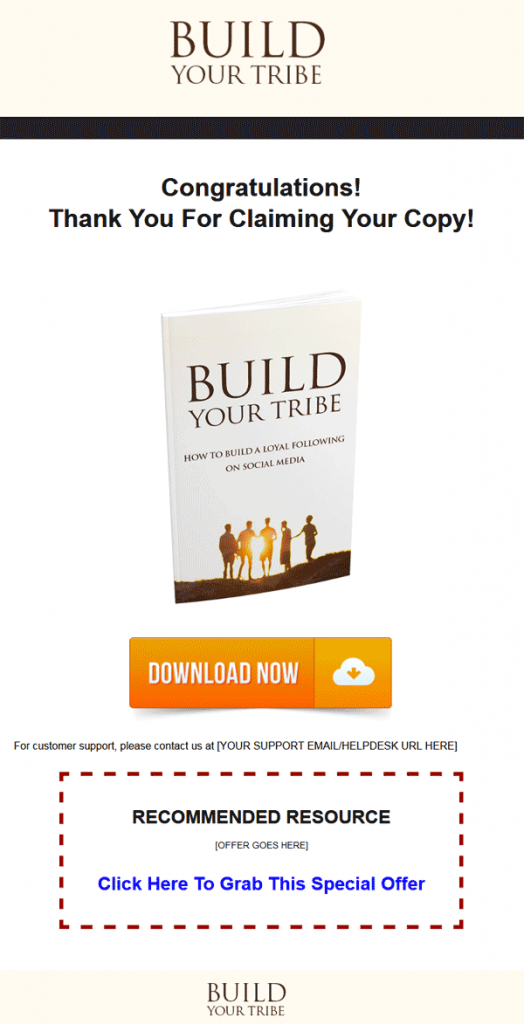 Build Your Social Media Tribe Ebook MRR