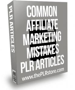 Common Affiliate Marketing Mistakes PLR Articles