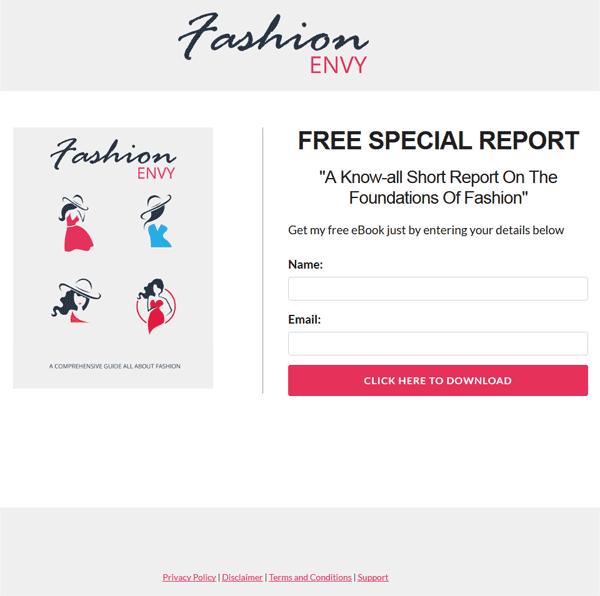 Fashion Envy PLR Report