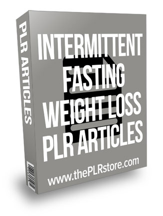 Intermittent Fasting Weight Loss PLR Articles