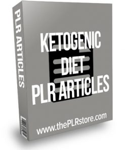 Ketogenic Diet PLR Articles