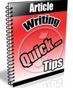 Article Writing Tips PLR Autoresponder Messages
