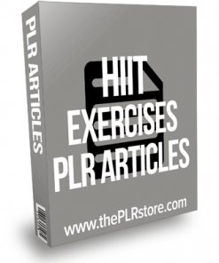 HIIT Exercises PLR Articles