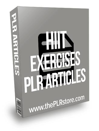 HIIT Exercises PLR Articles