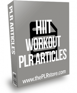 HIIT Workout PLR articles