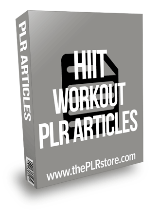 HIIT Workout PLR articles
