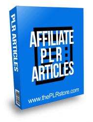Affiliate PLR Articles