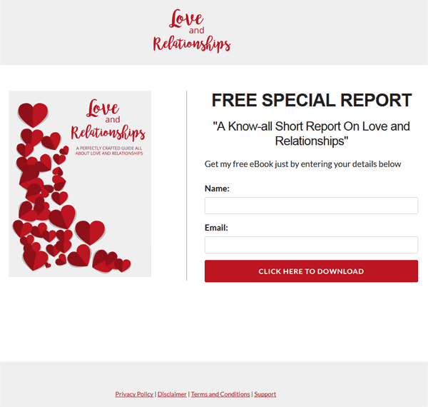 Love And Relationships PLR Report