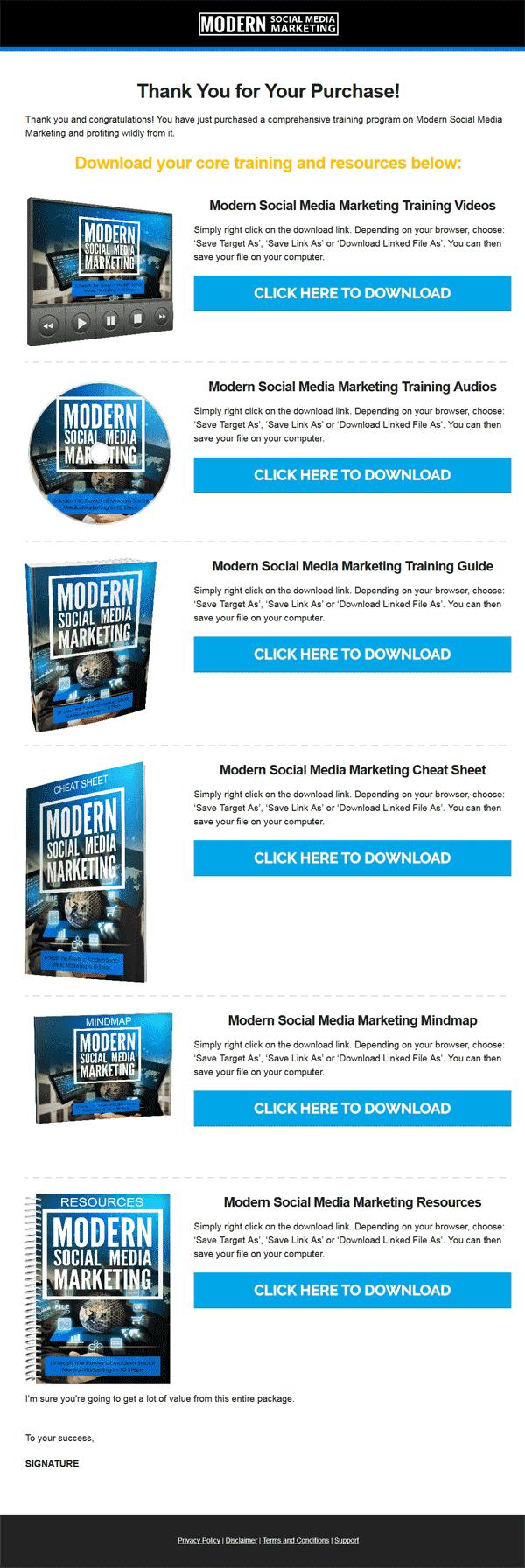 Modern Social Media Marketing Ebook and Videos MRR