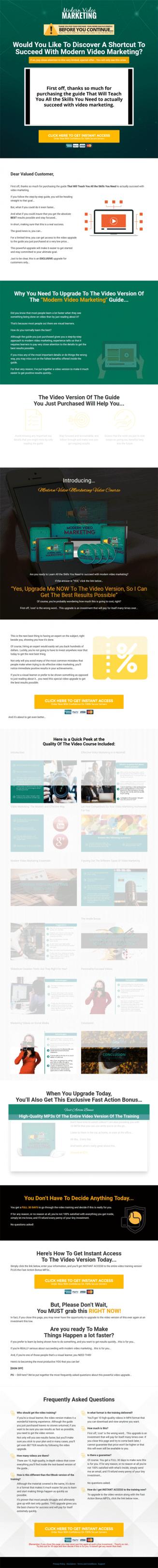 Modern Video Marketing Ebook and Videos MRR